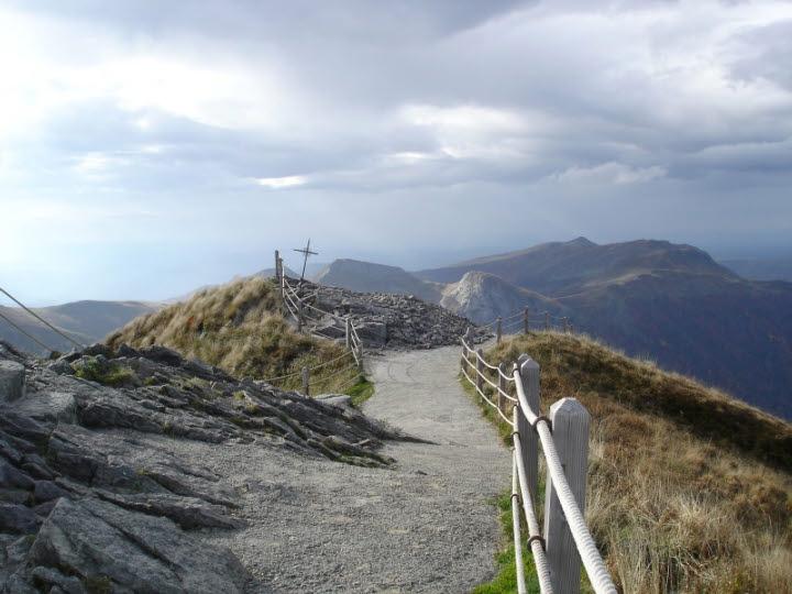 Mountain pilgrim route walk