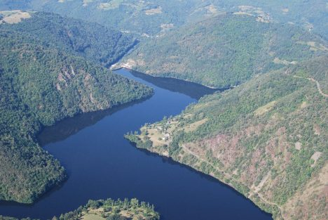 Aerial view river